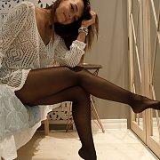 Brunette Teen In Her Pantyhose
