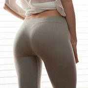 Erotic Teen Brunette With Tight Ass In Tights