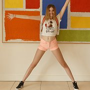 Long Legs Tall American Teen Redhead