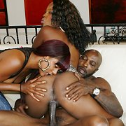 Ebony Babes Share A BBC with Coffee Brown, Natalie Evans