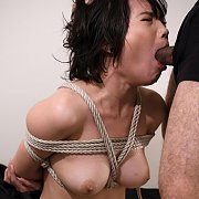 Bound Asian Rough Oral Sex