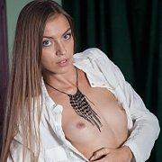 Erotic Brunette Babe Teasing