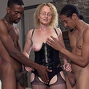Mature In Stockings Doing Two Black Men