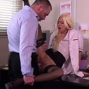 Blonde Dental Assistant Banged