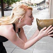 Pale Blonde Flashing In Public