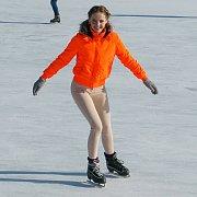Ice Skating Cutie In Public