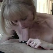 Mature Blonde Sucking On Cock