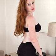Tasty Ass Freckled Ginger In Tights