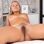 Open Legs Hairy Amateur With Tan Lines
