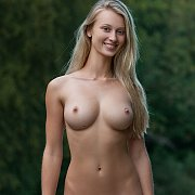 Busty Erotic Blonde Babe Outdoors