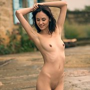 Skinny Arms Raven Nude Outside
