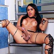 Sexy Shemale Masturbates with Lohara Lomark