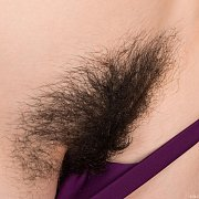 Pulling Out Purple Panties To Show She Is Hairy Below
