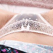 Pretty Panties Do Not Cover All Her Pubic Hairs