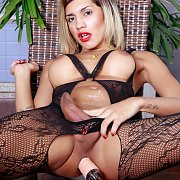 Super Horny Tgirl Enjoys A Machine In Her Ass with Dani Peterson