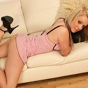 Delightful Lingerie Teasing Chanelle On The Couch