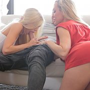 Blonde Teen Giving Head With Step Moms Instruction