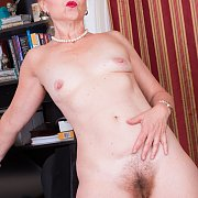 Naked Mature Lady That Is Hairy Below