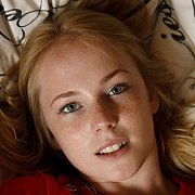 Blue Eyes And Freckles Cute Teen Coed