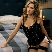Lingerie Teasing Jenna Fischer On The Bed