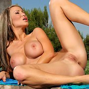 Spread Legs Naked Busty Babe Sandee Westgate