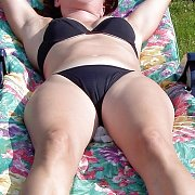Milf Soaking Up The Sun In Her Bikini