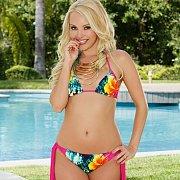 Petite Blonde Babe In Her Bikini