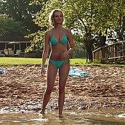 Sara Paxton On Private Beach In Bikini