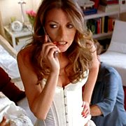 Natalie Zea In White Lingerie On The Phone