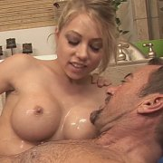 Lubed Up Massage From Busty Blonde Coed