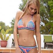 Skinny Bikini Model Posing Outside