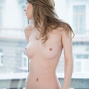 Pretty Erotica Model With Pale Flesh By A Window