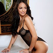 Sofi Ryan In Sexy Black Teddy Lingerie