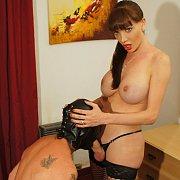 Dominating Her Masked Slave
