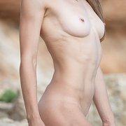 Fit Petite Erotic Teen Posing Nude Outdoors