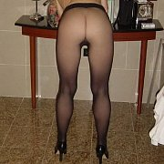 Amateur Ass In Pantyhose Slightly Bent Over