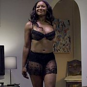 Black Lingerie On Ebony Actress Tamala Jones