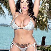 Silver Bikini On A Hot Busty Milf