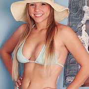 Soft Blue Bikini On A Pretty Teen