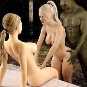Demon Gets Blonde Threesome