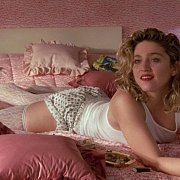 Madonna Laying On The Bed In Sexy Stockings