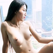 Naked Japan Trans In High Rise Window