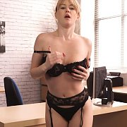 Office Girl Stripteasing