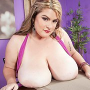 Huge Fat Titties On The Table