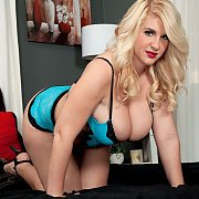 Voluptuous Blonde On All Fours In Lingerie