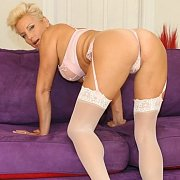 Garter Stockings Housewife Teases
