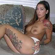 Tattooed Amateur Brunette Hottie