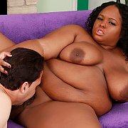 Ebony BBW Takes A White Dick with Olivia Leigh
