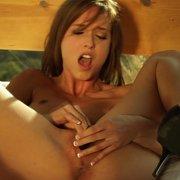 Masturbating Brunette Babe