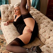 Blonde Porn Milf Flashing Smooth Pussy